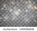 light glow effect stars. vector ... | Shutterstock .eps vector #1484086838