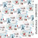 paris vector pattern | Shutterstock .eps vector #148411532