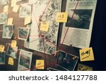 Detective Board With Photos Of...
