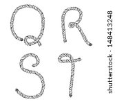 rope letters. vector... | Shutterstock .eps vector #148413248