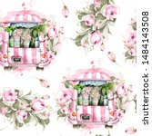 Hand Painted Watercolor Franch...