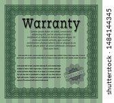 green warranty template. good... | Shutterstock .eps vector #1484144345
