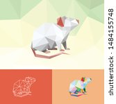mouse rat animal pet chinese...   Shutterstock .eps vector #1484155748