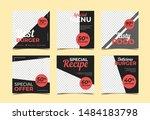 food promotional banner... | Shutterstock .eps vector #1484183798