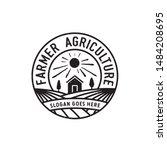 rustic farming circle badge... | Shutterstock .eps vector #1484208695