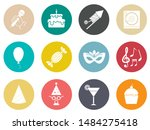 birthday party icons   vector... | Shutterstock .eps vector #1484275418