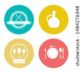 food and beverage icons ... | Shutterstock .eps vector #1484276348
