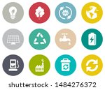 energy and ecology icons ... | Shutterstock .eps vector #1484276372