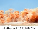 Rock Dust Clouds During...