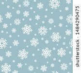 snowflake seamless pattern.... | Shutterstock .eps vector #1484290475