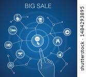 big sale  concept  blue...