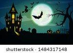 halloween poster background....   Shutterstock .eps vector #1484317148
