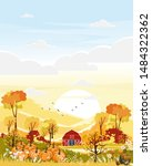 fantasy panorama landscapes of...   Shutterstock .eps vector #1484322362
