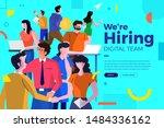 landing page design concept we... | Shutterstock .eps vector #1484336162