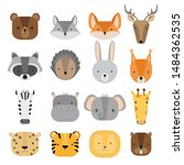 vector set of cute forest and...   Shutterstock .eps vector #1484362535
