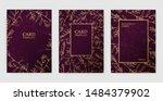 floral vector card set ... | Shutterstock .eps vector #1484379902