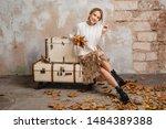 portrait of attractive smiling... | Shutterstock . vector #1484389388