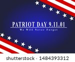 patriot day of usa background... | Shutterstock . vector #1484393312
