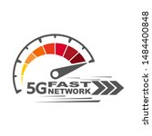 5g fast network logo. speed...