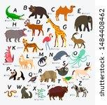 english animal alphabet. vector ...   Shutterstock .eps vector #1484408462