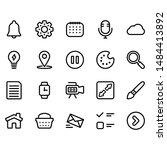 web line icon set   4