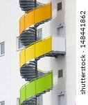 Colorful Spiral Staircase...