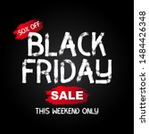 black friday sale banner...   Shutterstock . vector #1484426348