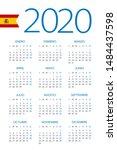 calendar 2020 year   vector...   Shutterstock .eps vector #1484437598