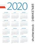 calendar 2020 year   vector...   Shutterstock .eps vector #1484437685