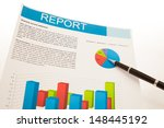 financial charts and graphs... | Shutterstock . vector #148445192