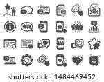 feedback icons. set of user... | Shutterstock .eps vector #1484469452