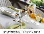 richly decorated banquet table... | Shutterstock . vector #1484475845