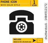 phone icon vector on isolated...