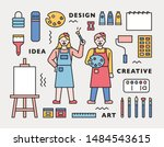 artist character and art...   Shutterstock .eps vector #1484543615