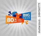 sale banner template design ... | Shutterstock .eps vector #1484560775