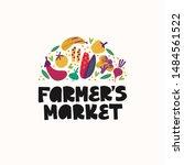 farmers market   hand drawn... | Shutterstock .eps vector #1484561522