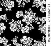 flower print. elegance seamless ...   Shutterstock . vector #1484602475