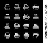 print icon set | Shutterstock .eps vector #148464005