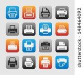 print icon set | Shutterstock .eps vector #148464092