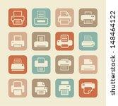 print pictogram | Shutterstock .eps vector #148464122