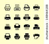 print icons for website | Shutterstock .eps vector #148464188
