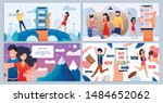 mobile applications set for... | Shutterstock .eps vector #1484652062