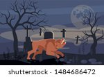 Mythical Werewolf Is Howling A...
