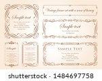 vector set of vintage elements... | Shutterstock .eps vector #1484697758