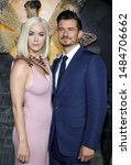 katy perry and orlando bloom at ... | Shutterstock . vector #1484706662