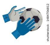 soccer football sport game... | Shutterstock .eps vector #1484706812