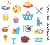 food icons   flat style | Shutterstock .eps vector #148470692
