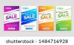 set of flash sale banners with... | Shutterstock .eps vector #1484716928