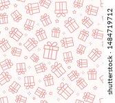 Gift Box Seamless Pattern With...