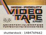 a retro alphabet with 1980s... | Shutterstock .eps vector #1484769662